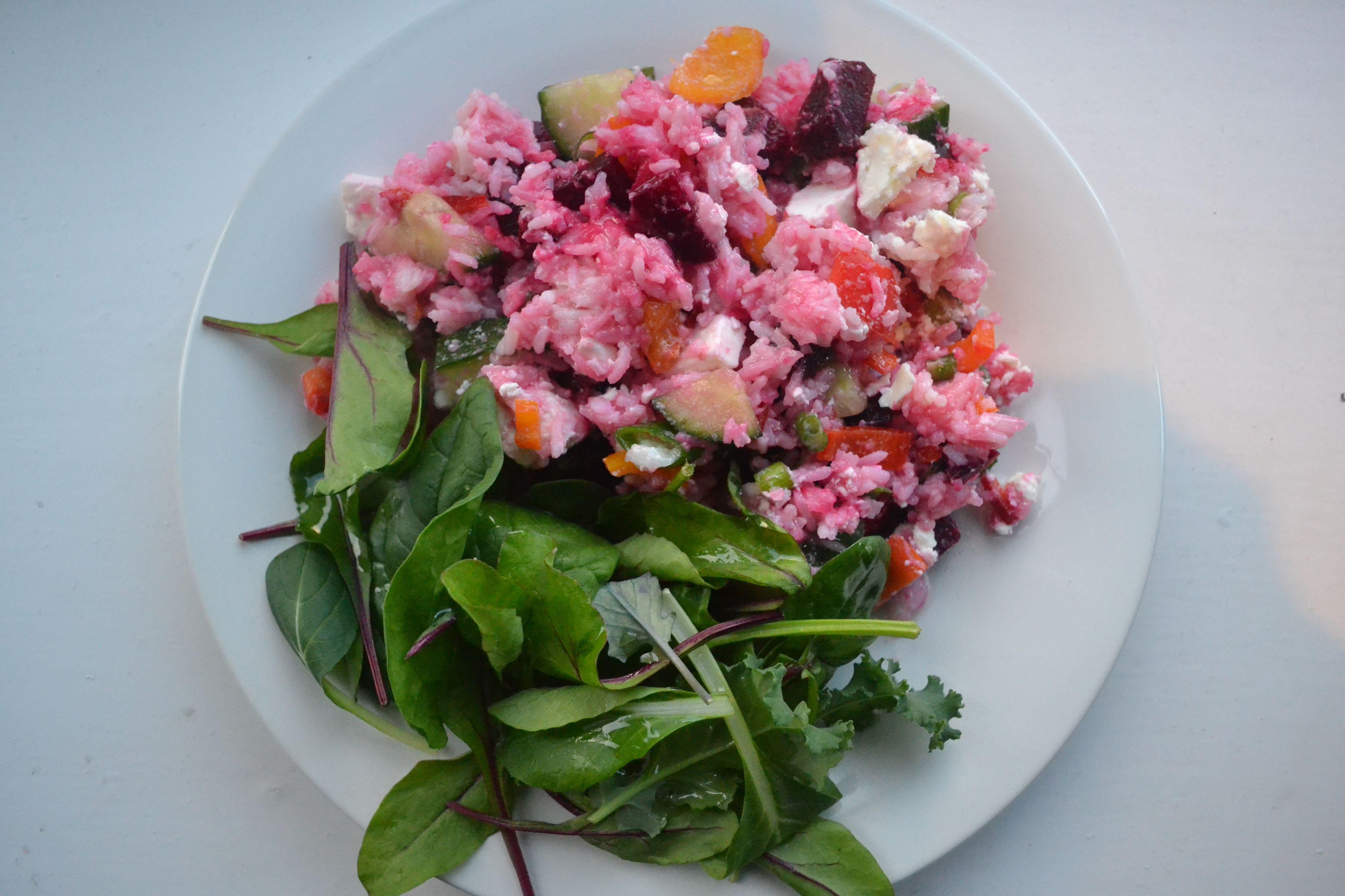 Beetroot and Feta Rice Salad