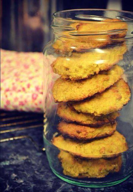 turmeric cookies in a clear jar