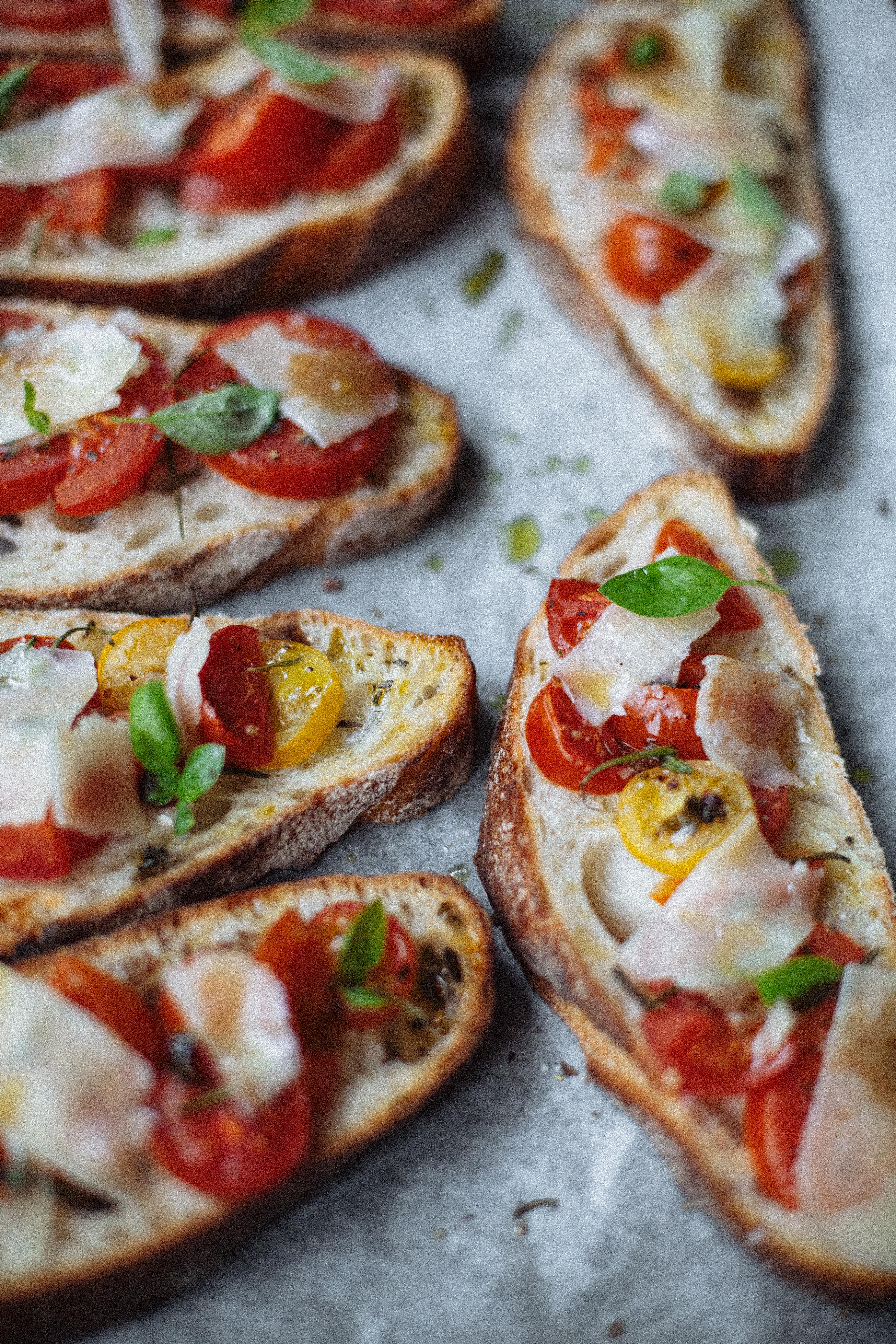 Gluten free healthy Bruschetta