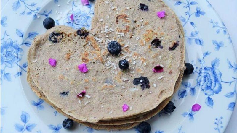 blueberry & buckwheat pancakes- Gluten free pancakes