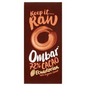 Ombar 72% Dark Chocolate Bar-Vegan & gluten free chocolate