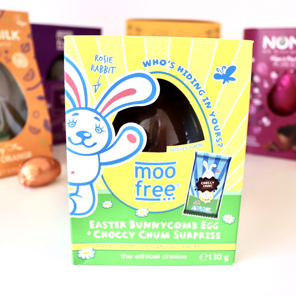 Moo Free Easter Bunnycombe Egg with Choccy Chum Surprise