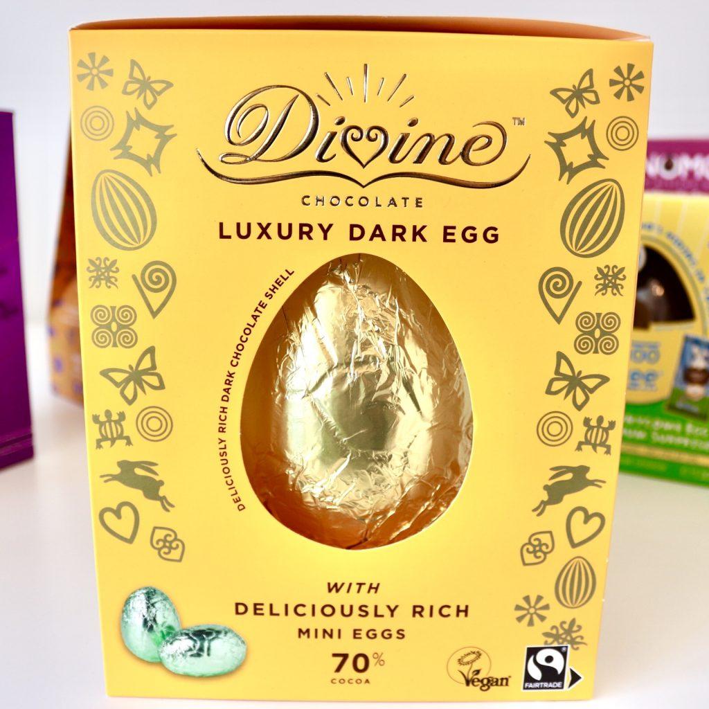Divine Chocolate Luxury Dark Egg with Mini Eggs