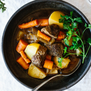 gluten free Irish Lamb Stew as mains for St. Patrick's Day