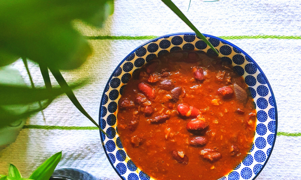 Vegan Indian styled Kidney Bean Curry