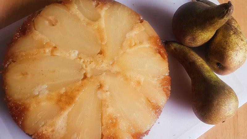 Upside Down Pear Cake Gluten Free