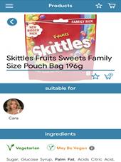 LiberEat app: Skittles