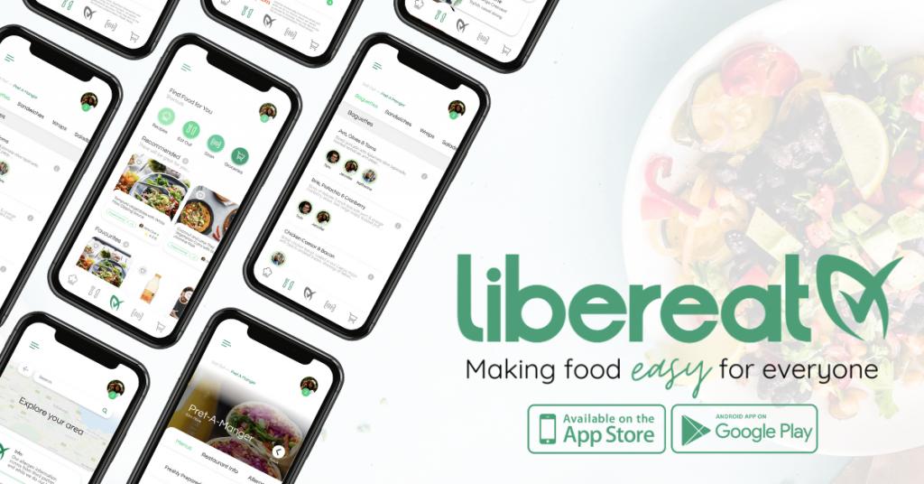 LiberEat Get The App Avoid Allergens Food Lifestyle Gluten Free Vegan Coeliac