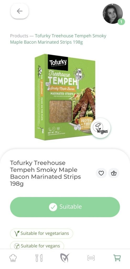Tofurky Tempeh Smokey Maple Bacon On LiberEat App