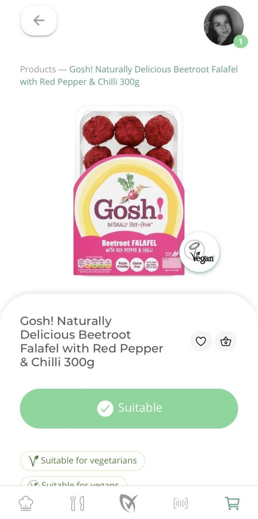 Gosh! Naturally Delicious Beetroot Falafel on LiberEat App
