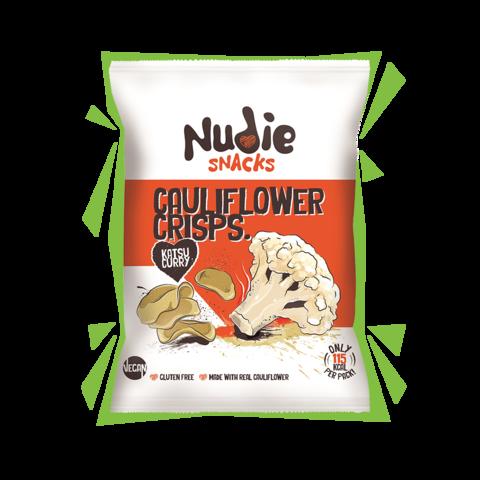 Nudie Snacks Cauliflower Crisps Katsu Curry