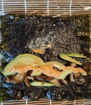 Shiitake and Avo Sushi