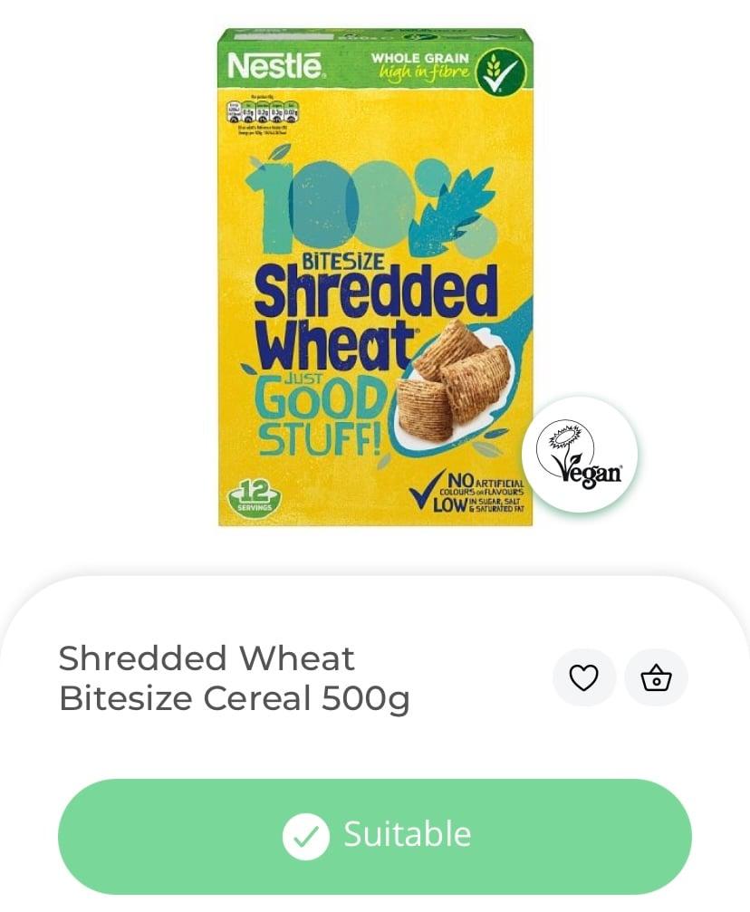 vegan cereal shredded wheat