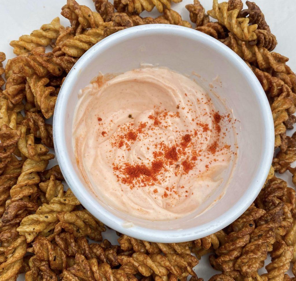 Vegan and gluten-free pasta chips