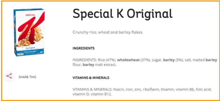 Vegan Cereeals - vitamin D