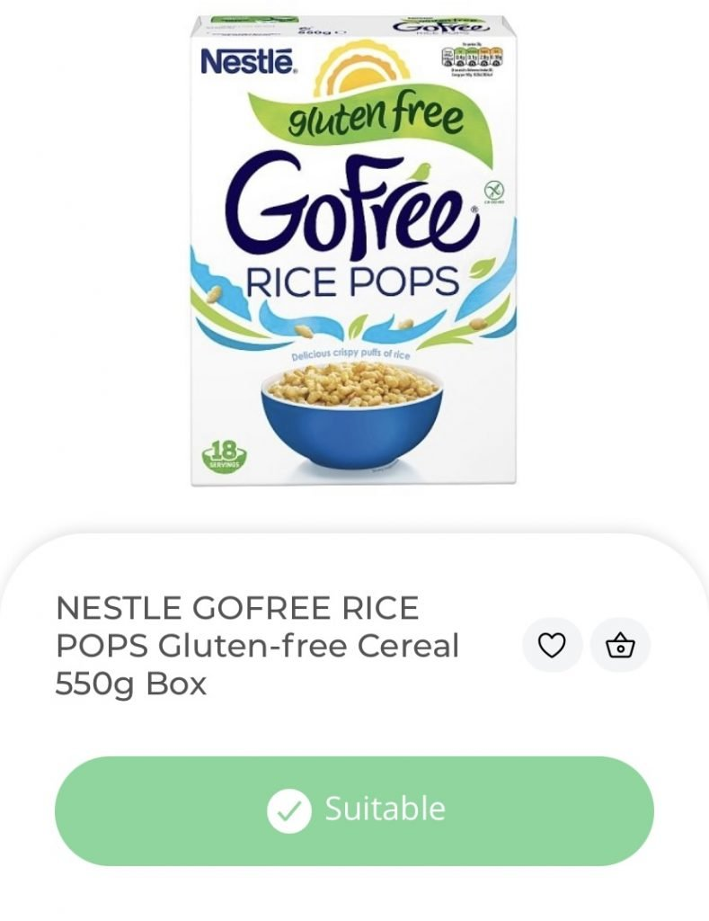 nestle go free cereal