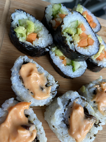 Vegan and Gluten-free sushi
